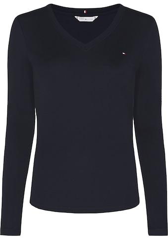 Tommy Hilfiger Curve Langarmshirt »CRV SLIM V - NK COSY TOP LS« kaufen