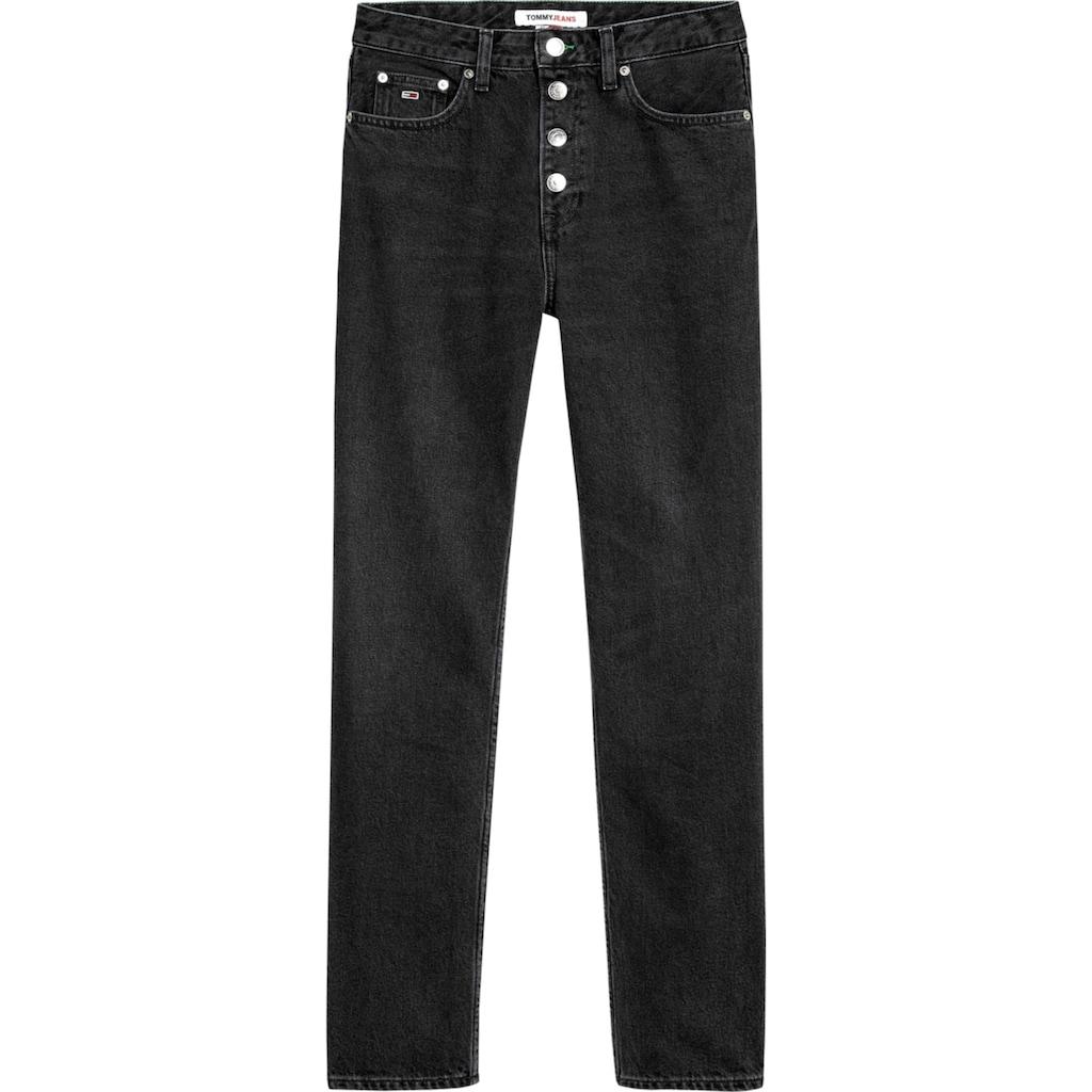 Tommy Jeans Straight-Jeans »HARPER HR STRGHT ANKLE OLBC«, mit Fadeout-Effekten & Tommy Jeans Logo-Badge