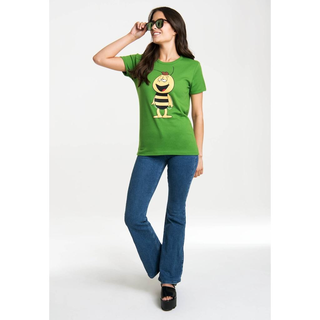 LOGOSHIRT T-Shirt »Die Biene Maja – Willi«, mit lizenziertem Originaldesign