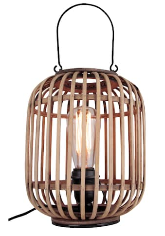 Brilliant Leuchten Woodrow Tischleuchte mit Tragegriff hellbraun kaufen