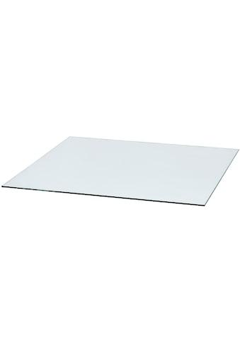 Glasbodenplatte für Kaminöfen , quadratisch, 110x110 cm, zum Funkenschutz kaufen