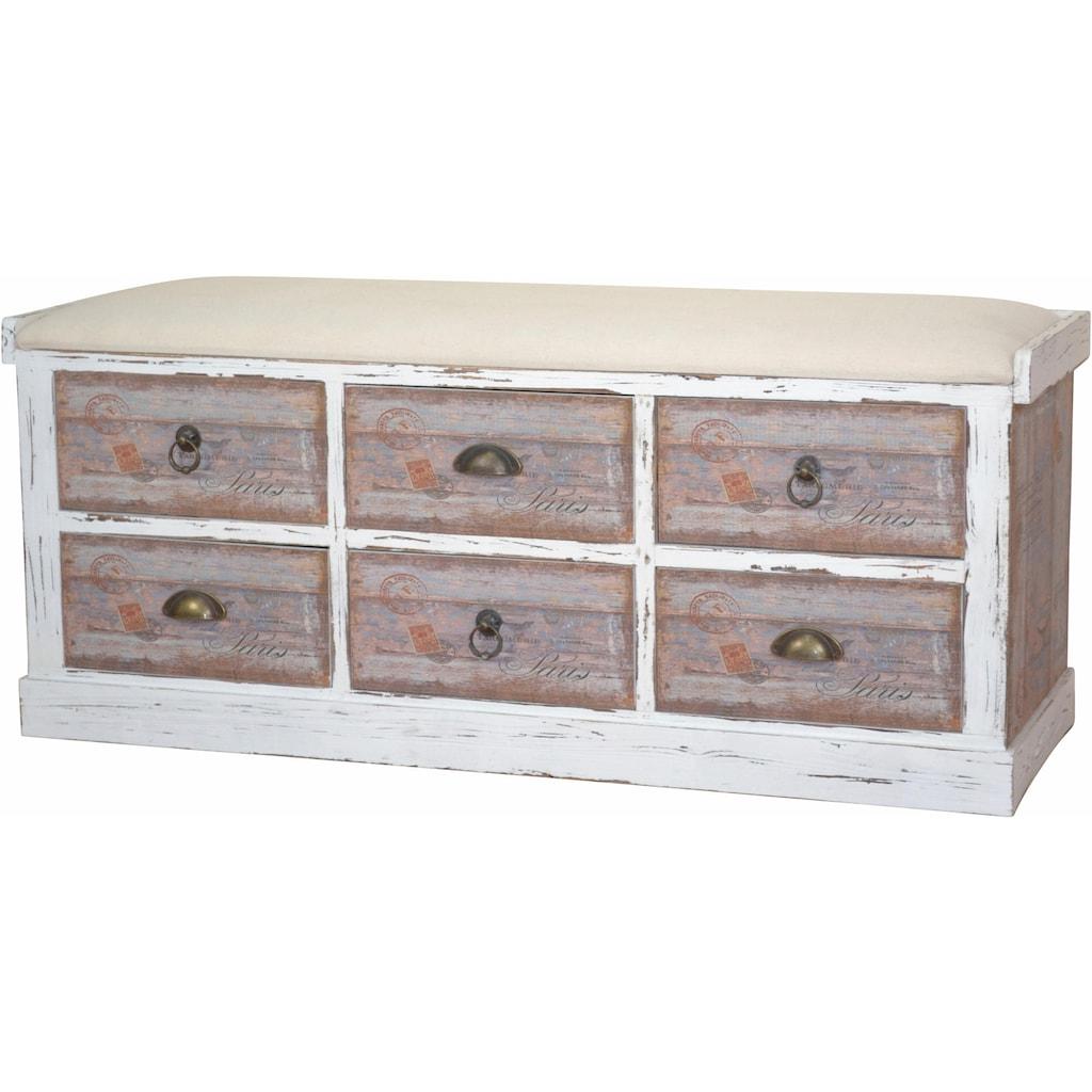 Home affaire Sitzbank »Vintage«, in zwei Farben