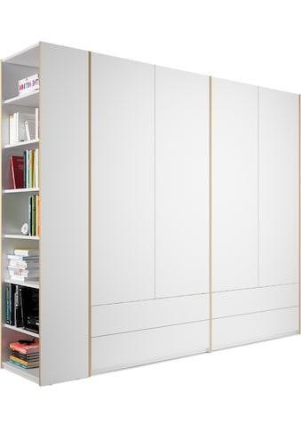 Müller SMALL LIVING Kleiderschrank »Modular Plus Variante 4«, inklusive 4 geräumiger Schubladen, Anbauregal wahlweise links oder rechts montierbar kaufen