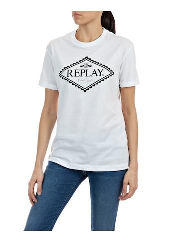 Replay T-Shirt, mit kontrastfarbenem Logoprint kaufen