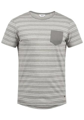 Solid Rundhalsshirt »Fidel«, Kurzarmshirt mit Brusttasche kaufen