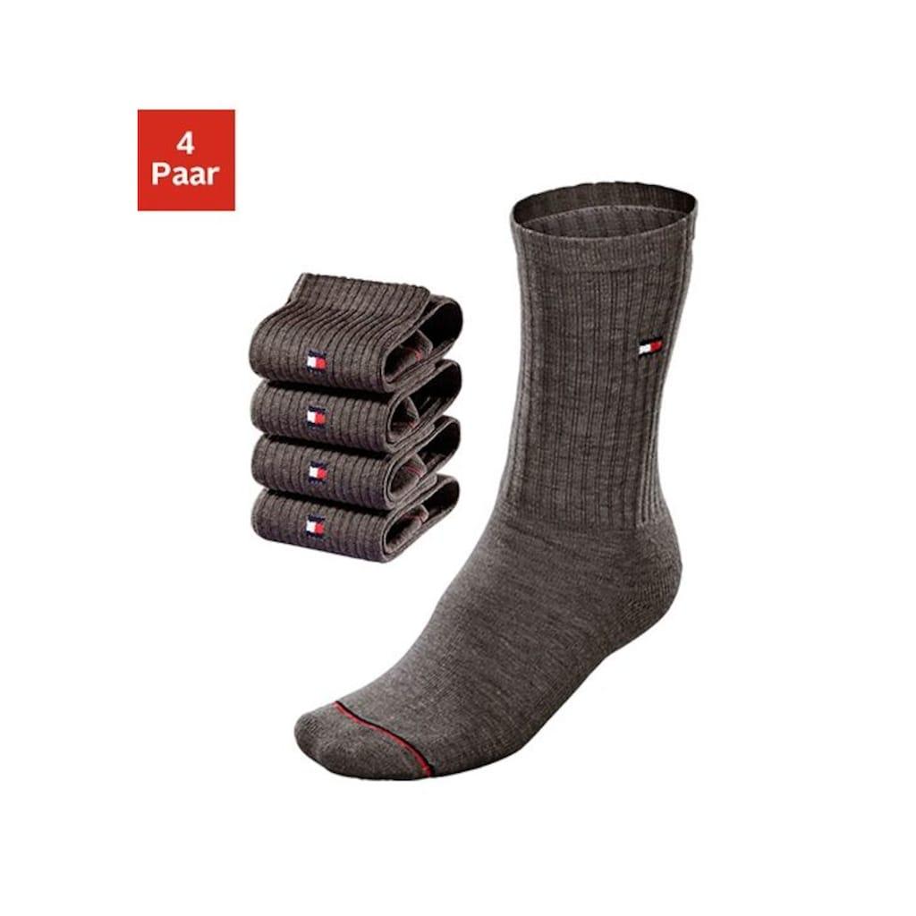 TOMMY HILFIGER Socken, (4 Paar), mit Fußfrottee