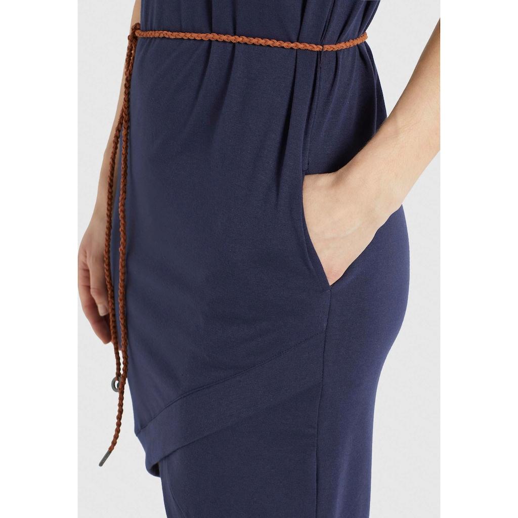 khujo Shirtkleid »CAJSA«, Sommerkleid mit Bindeband in der Taille