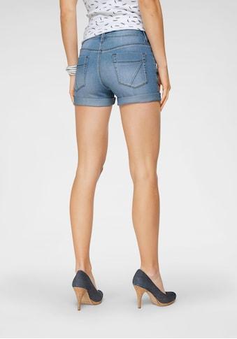 Arizona Jeansshorts »Kontrastnähte«, Mid Waist - als Shorts oder Bermuda tragbar kaufen