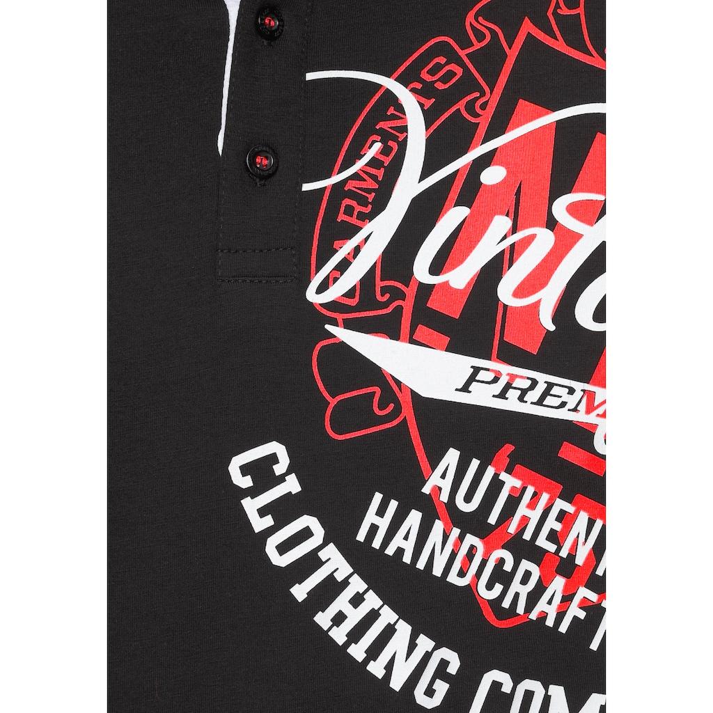 Cipo & Baxx Poloshirt, mit auffälligem Druck