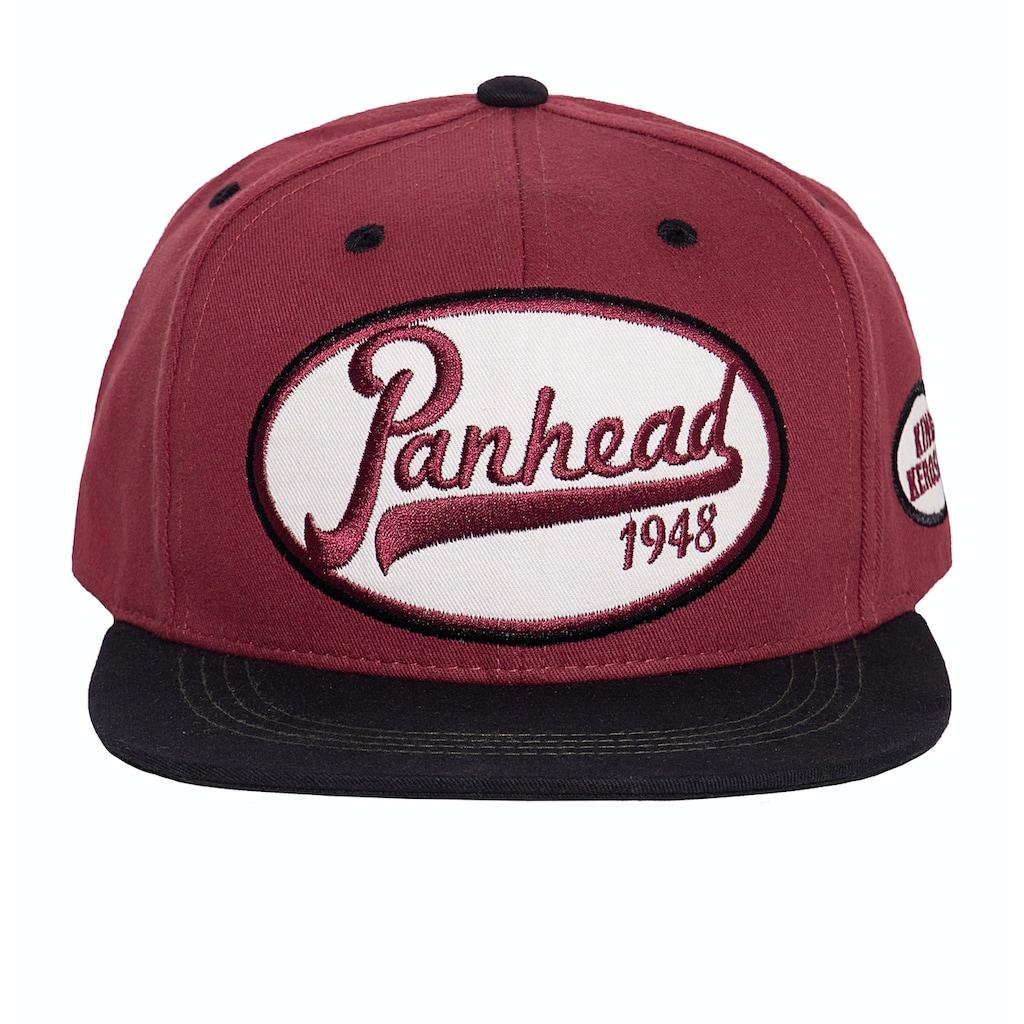 KingKerosin Flat Cap »Panhead«, in Vintage-Optik mit Print auf der Schirmunterseite