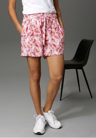 Aniston CASUAL Shorts, mit bunten Vögeln bedruckt - NEUE KOLLEKTION kaufen