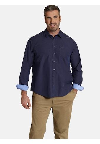 Charles Colby Langarmhemd »DUKE RYE«, elegantes Punktemuster kaufen