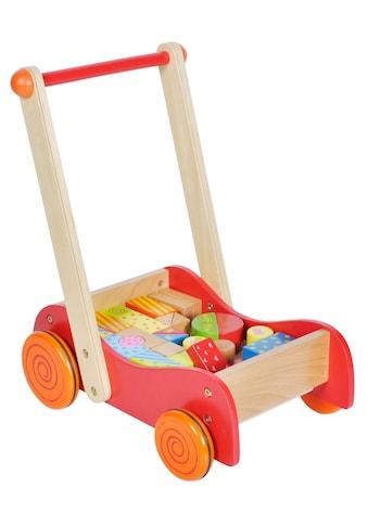 Knorrtoys® Lauflernwagen »Flitzer Freddy«, mit Bausteinen kaufen