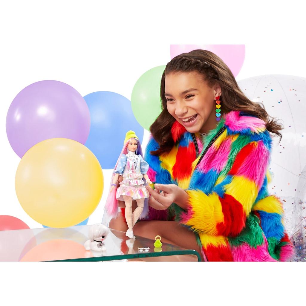 Barbie Anziehpuppe »EXTRA«, mit langen Pastell-Haaren und Hündchen