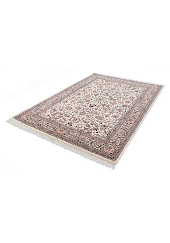 THEKO Orientteppich »Benares Isfahan«, rechteckig, 12 mm Höhe, reine Wolle, handgeknüpft, mit Fransen, Wohnzimmer kaufen