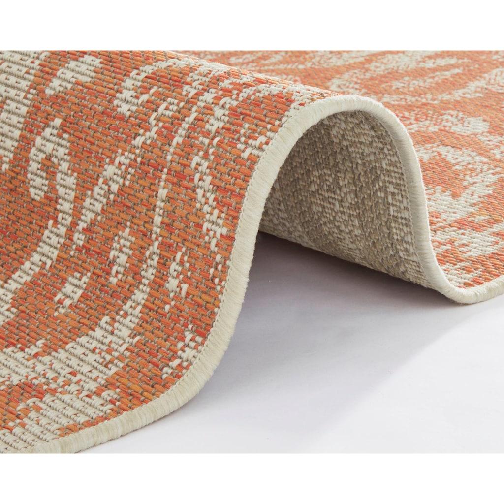 bougari Teppich »Hatta«, rechteckig, 4 mm Höhe, Flachgewebe, In- und Outdoor geeignet, Wohnzimmer