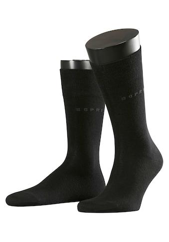 Esprit Socken »Basic Easy 2-Pack«, (2 Paar), mit druckfreiem Komfortbund kaufen