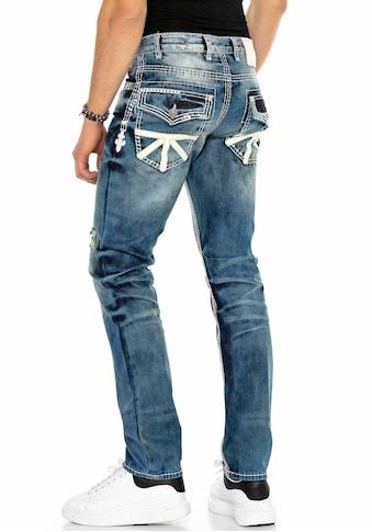 Cipo & Baxx Straight-Jeans, aufwendige Details kaufen