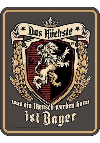 Rahmenlos Blechschild für den Bayern-Fan kaufen