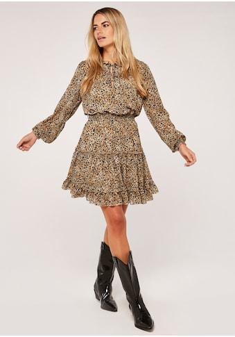 Apricot Druckkleid »Leopard Tiered Pussybow Dress« kaufen