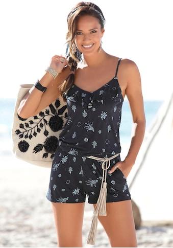 s.Oliver Beachwear Overall, mit Volant am Ausschnitt kaufen