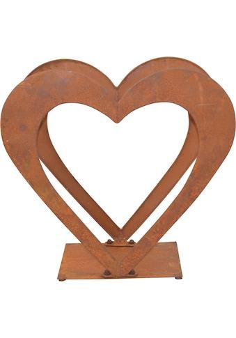 Regal »Herzilein«, für Holz, aus Eisen mit rostiger Oberfläche kaufen