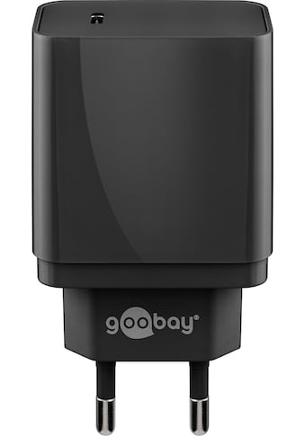 Goobay USB-Ladegerät »USB-C PD Charger, 18W, Schwarz«, USB-C PD (Power Delivery)... kaufen
