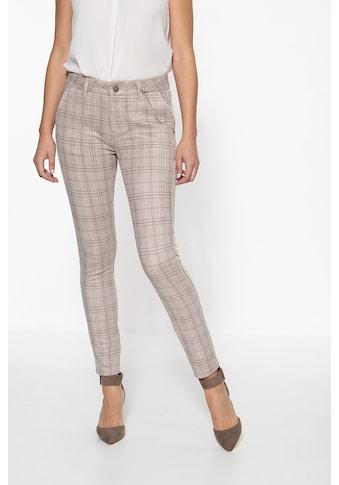 ATT Jeans Stretch-Hose »Ruby«, mit Karomuster und seitlichem Streifen kaufen