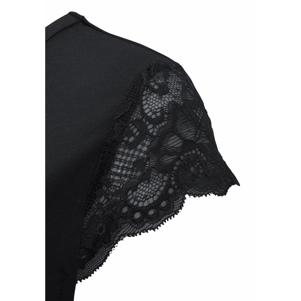 LASCANA Nachthemd, mit Spitzenärmeln