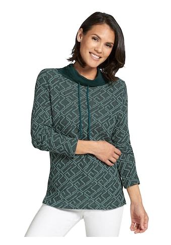 Classic Basics Shirt mit zweifarbigem Jacquard - Muster kaufen