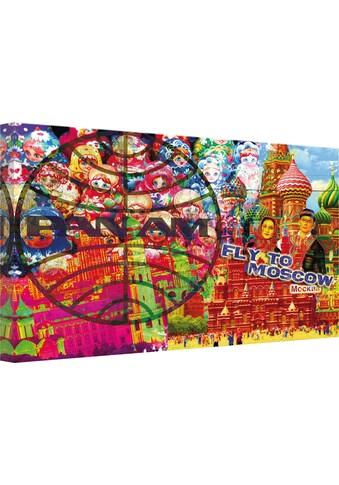 Wall-Art Leinwandbild »PAN AM - Moskau« kaufen