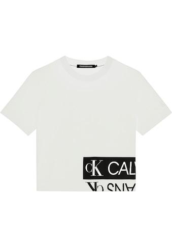 Calvin Klein Jeans Rundhalsshirt »MIRRORED LOGO BOXY TEE«, mit gespiegeltem CK... kaufen