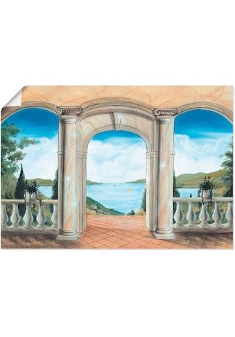 Artland Wandbild »griechische Terrasse«, Europa, (1 St.), in vielen Größen &... kaufen