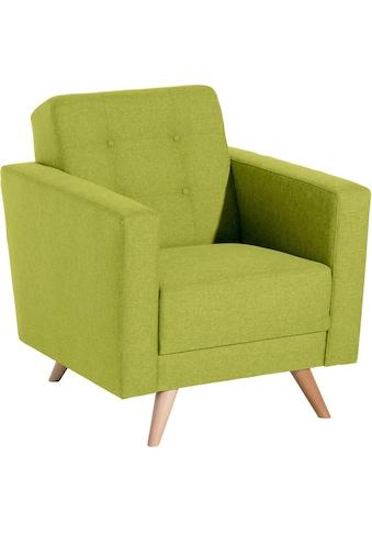 Max Winzer® Sessel »Julius«, mit Knopfheftung kaufen