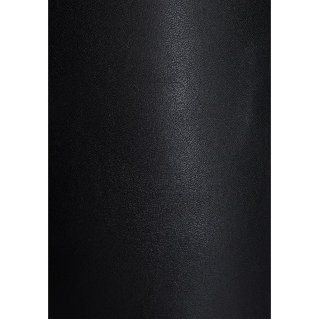MAC Cargojeans »Rich-Cargo-Leather«, Aus weichem, gefüttertem Leder-Imitat