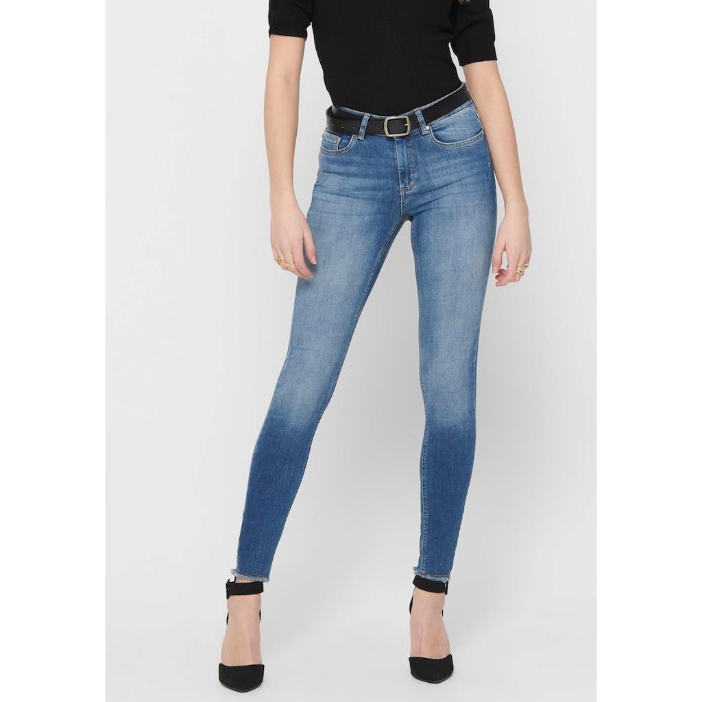Only Ankle-Jeans »BLUSH«, ausgefranste Säume