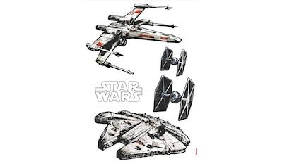 Komar Wandtattoo »Star Wars Spaceships«, selbstklebend, rückstandslos abziehbar kaufen