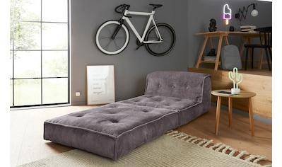 INOSIGN Sessel »Missy«, Loungesessel aus weichem Cord, in 2 Größen, mit Schlaffunktion und Pouf-Funktion. kaufen