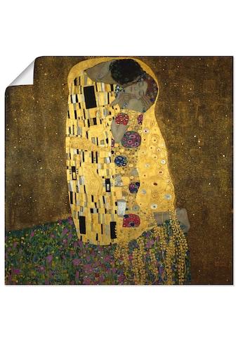 Artland Wandbild »Der Kuß«, Paar, (1 St.), in vielen Größen & Produktarten -Leinwandbild, Poster, Wandaufkleber / Wandtattoo auch für Badezimmer geeignet kaufen