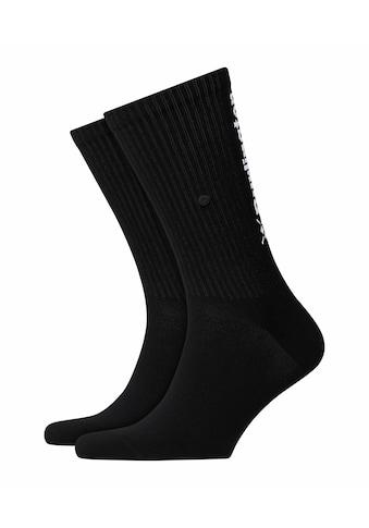 Burlington Socken »Black Logo«, (1 Paar), in hochwertiger Rippstruktur kaufen
