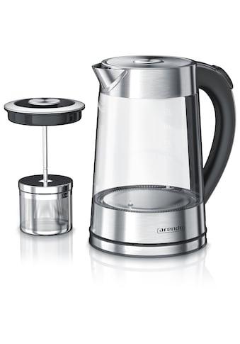 Arendo Edelstahl Glas Wasserkocher mit Teesieb kaufen