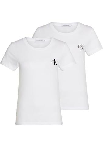 Calvin Klein Jeans T-Shirt »2 PACK SLIM T-SHIRT«, mit Calvin Klein Jeans Logo-Print... kaufen