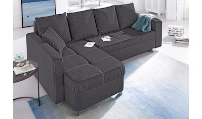 Jockenhöfer Gruppe Ecksofa, mit Bettfunktion und Bettkasten kaufen