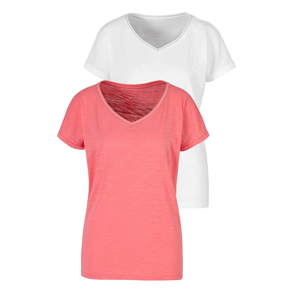 H.I.S T-Shirt, mit modischem Lurexstreifen
