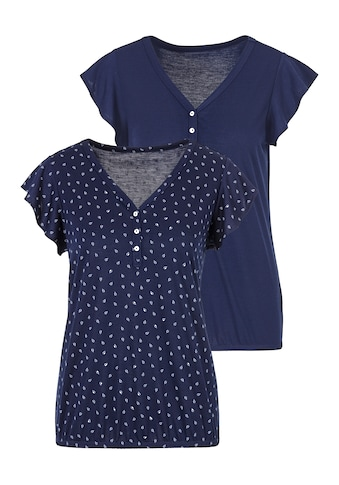 LASCANA Shirttop, (2er-Pack), mit Flügelärmelchen kaufen