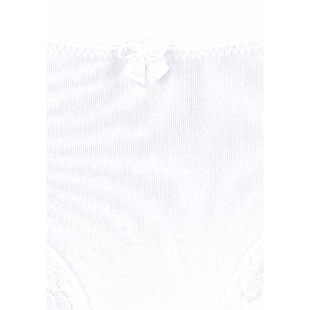 LASCANA Slip, (3 St.), mit zarter Spitze