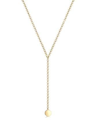 Elli Collierkettchen »Choker Y - kette glänzend mit Plättchen 925 Silber« kaufen