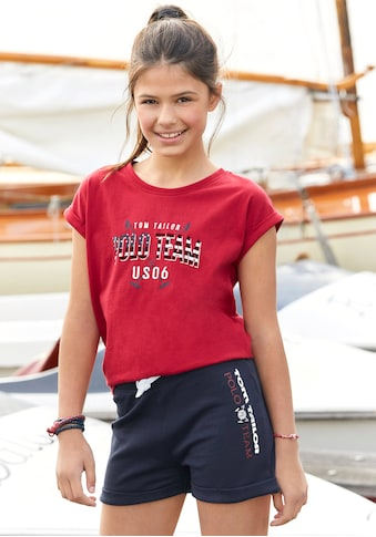 TOM TAILOR Polo Team T-Shirt, mit kleinem Aufschlag am Ärmel kaufen