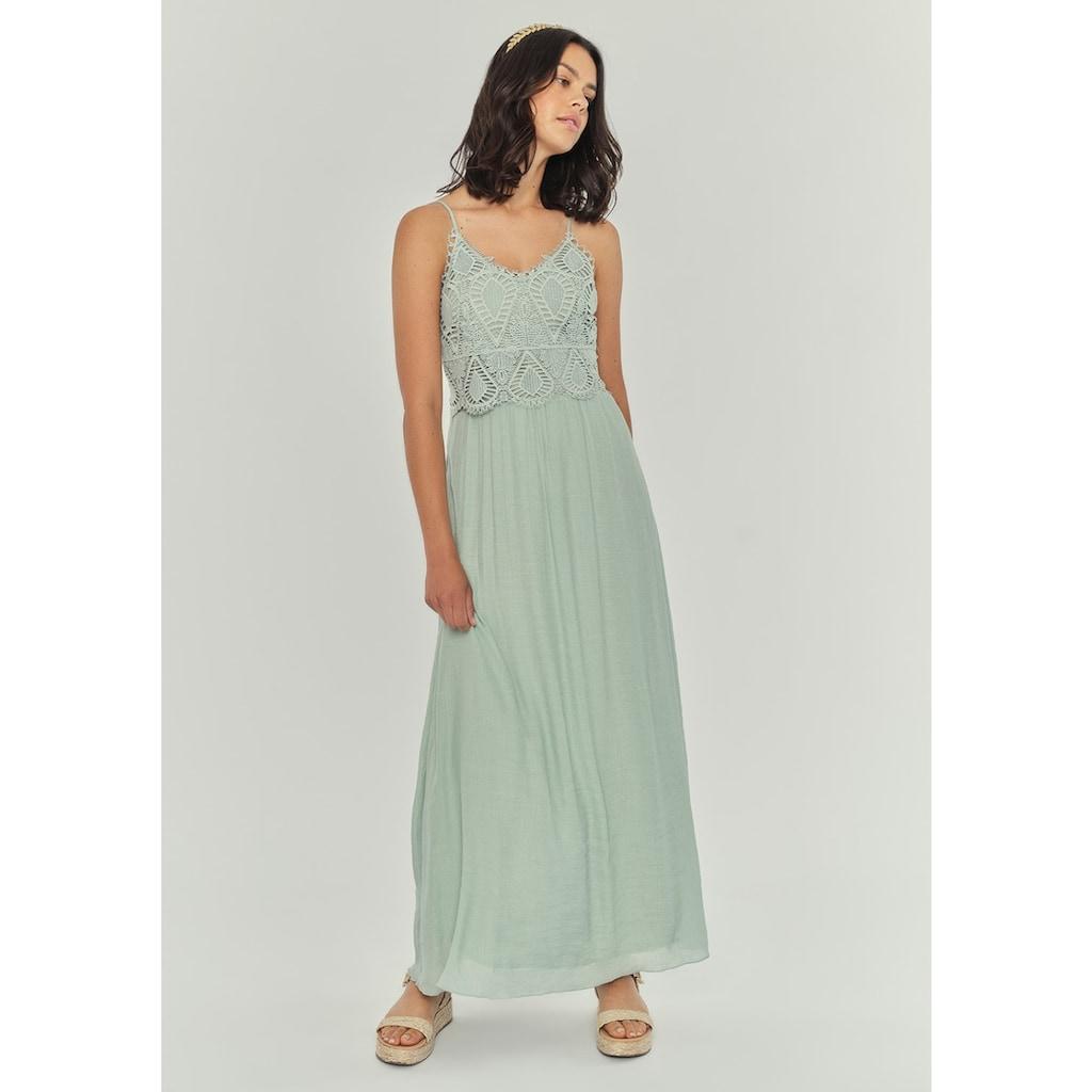 Apricot Maxikleid »Crochet Slub Shimmer Maxi Dress«, mit Crochet-Oberteil