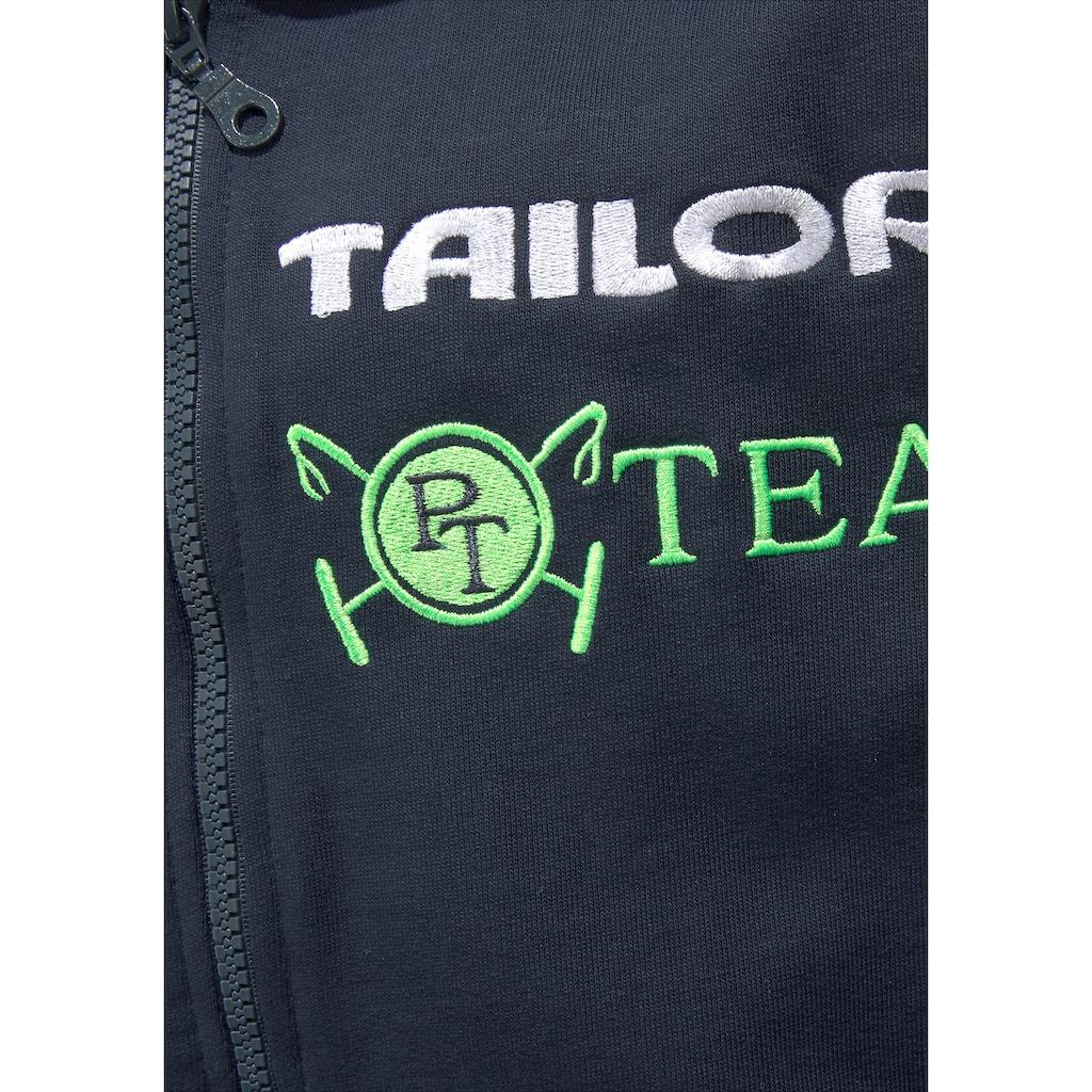 TOM TAILOR Polo Team Kapuzensweatjacke, mit toller Stickerei